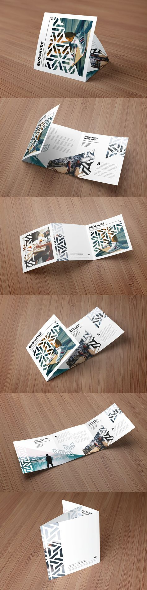 Square Modern Pattern Trifold Brochure Template InDesign INDD ...