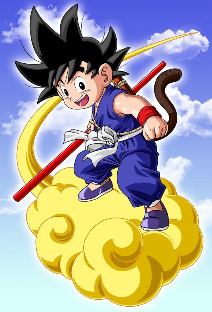 Goku And Flying Nimbus By Link Leob Dragon Ball Goku Goku Kid Goku