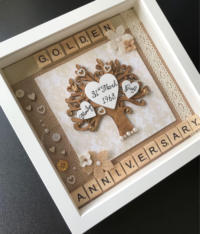 Anniversary Box Frame anniversary goldenanniversary