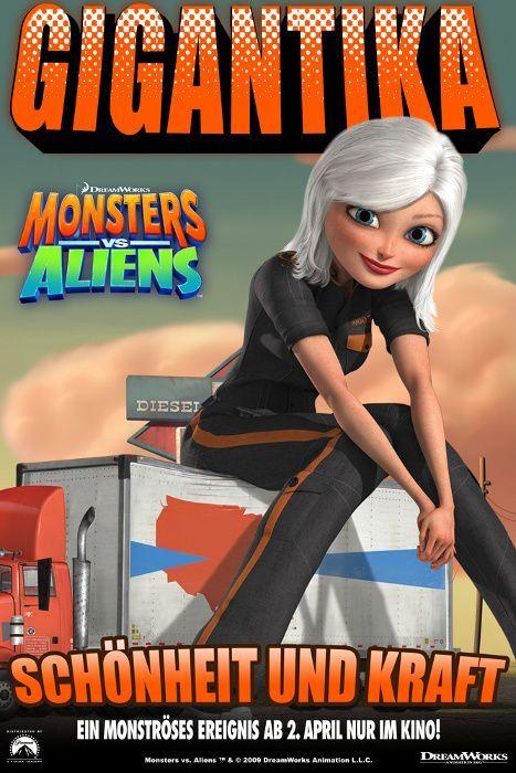 monsters vs aliens movie poster posters of films amp tv
