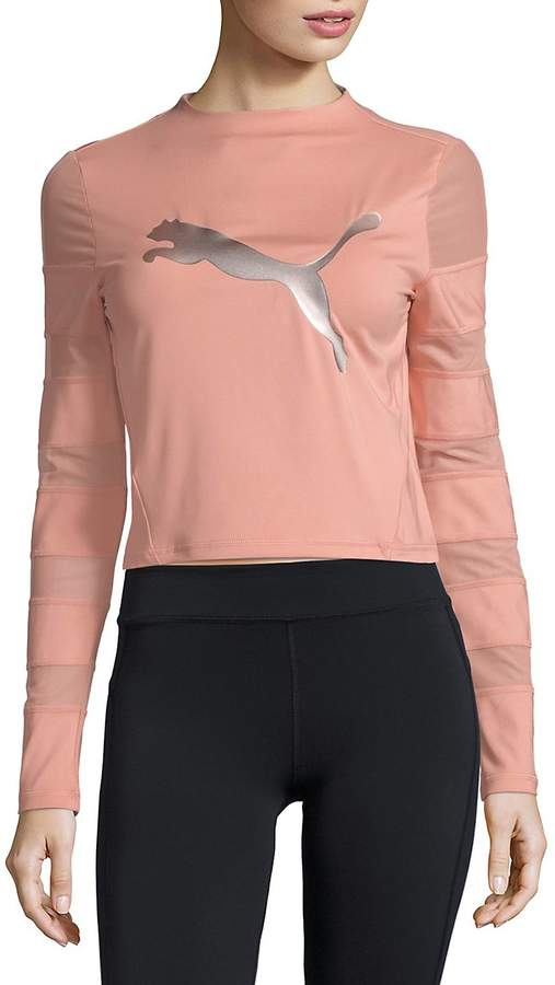 espada Huelga Frenesí  PUMA Women's Mesh-Paneled Top | Clothes, Sport chic style, Women