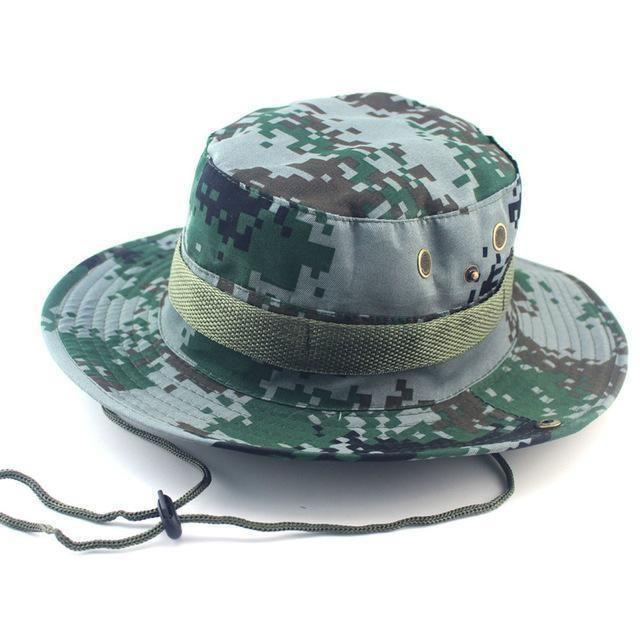 56d6a35b Camouflage Bucket Hats Wide Brim Sun Cap Ripstop Camo Fishing Hunting  Hiking Men