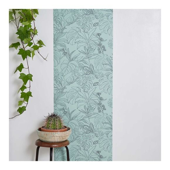 Papier-peint - Amazonie bicolore Rénovation maison - entrée