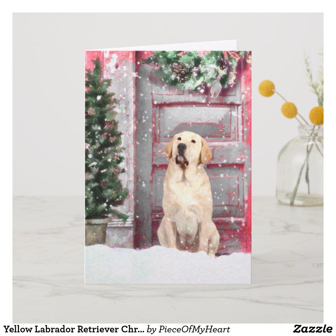 Yellow Labrador Retriever Christmas Greeting Cards in 2018 ...