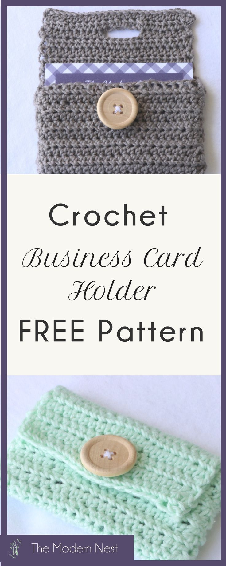 Business card holder crochet pattern free crochet patterns from my do you ever get business cards and dont know where to put them heres a free business card holder crochet pattern to help you keep them organized reheart Choice Image