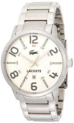 232d2554576 Relógio Lacoste Barcelona White Dial Stainless Steel Mens Watch 2010494   Relogio  Lacoste