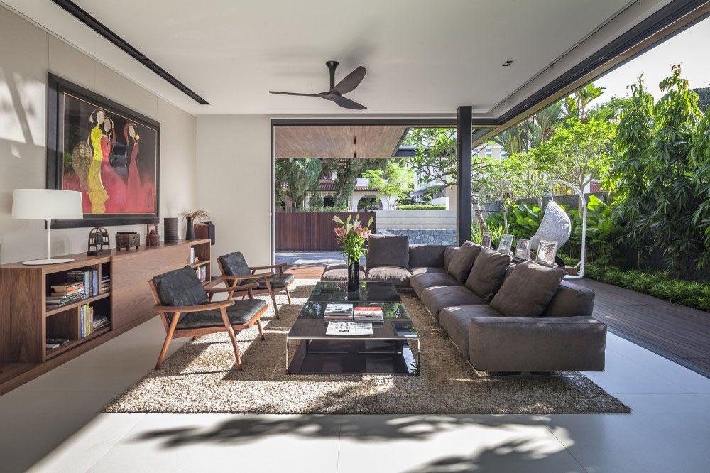 Dekorasi Ruang Keluarga Dengan A Modern Luas Griya Indonesia Ideas For The House Pinterest And