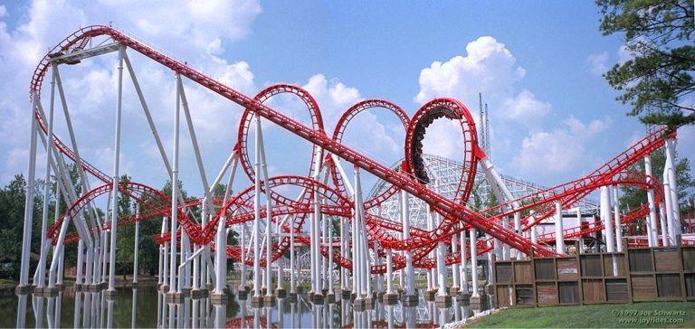 Ninja Six Flags Over Georgia Attractions In Georgia Six Flags Roller Coaster