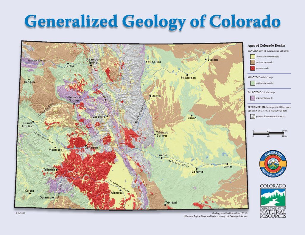 Geological Map Of Spain.Pin By Lynn Recker On Geology Colorado Plateau Colorado Geology