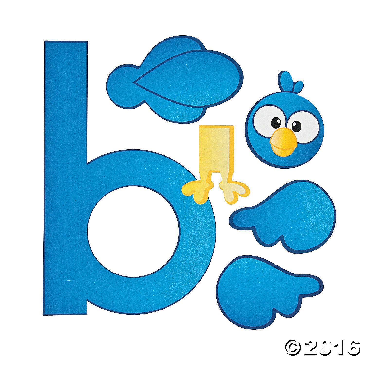 B Is For Bird Lowercase Letter B Craft Kit A01