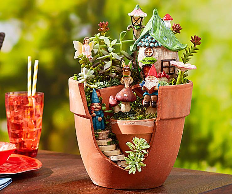 I Found A Fanciful Fairies Planter Fairy Garden Collection At Big