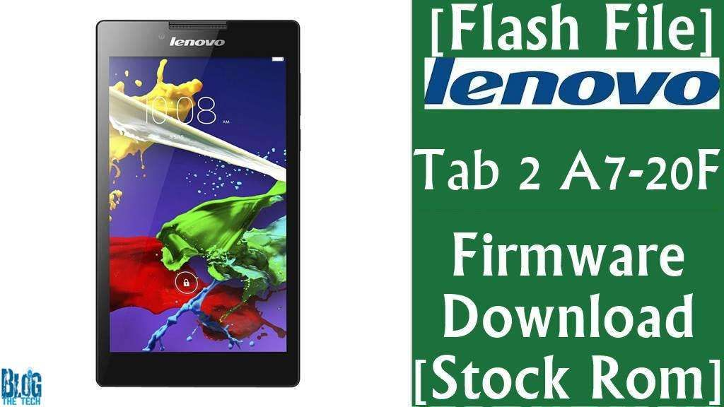 Flash File] Lenovo Tab 2 A7-20F Firmware Download [Stock Rom