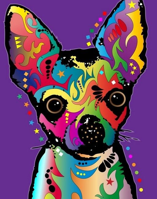 Has Poncho Been To Woodstock Amy Hull Chihuahua Art Dog Art