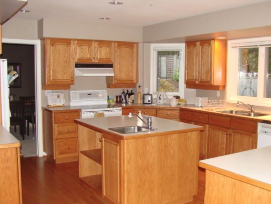 Restaining Kitchen Cabinets And Kitchen Lighting Ideas No Island - Kitchen lighting ideas no island