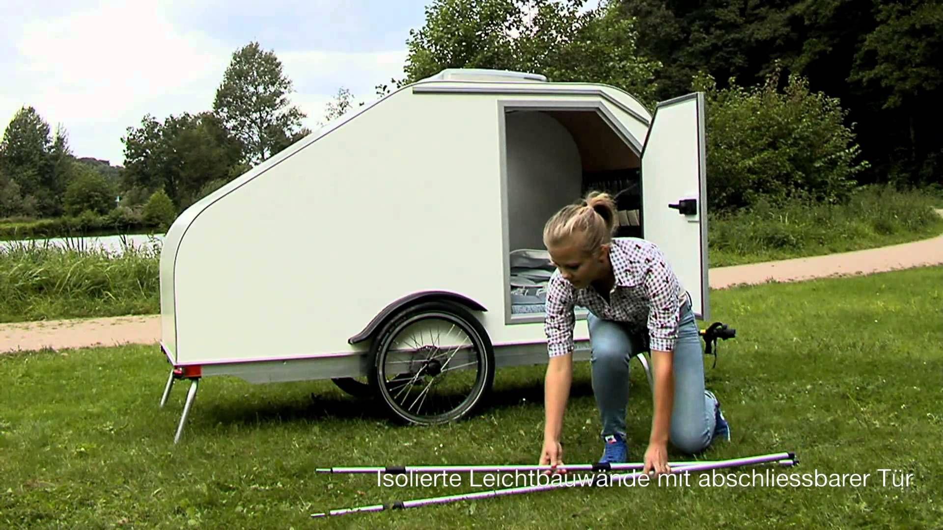 Eluk Wohnanhanger Mov Fahrrad Wohnwagen Kleines Wohnmobil Und Fahrrad