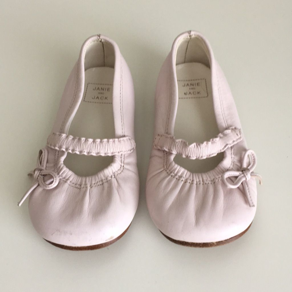 Janie And Jack Pink Leather Girls Shoes