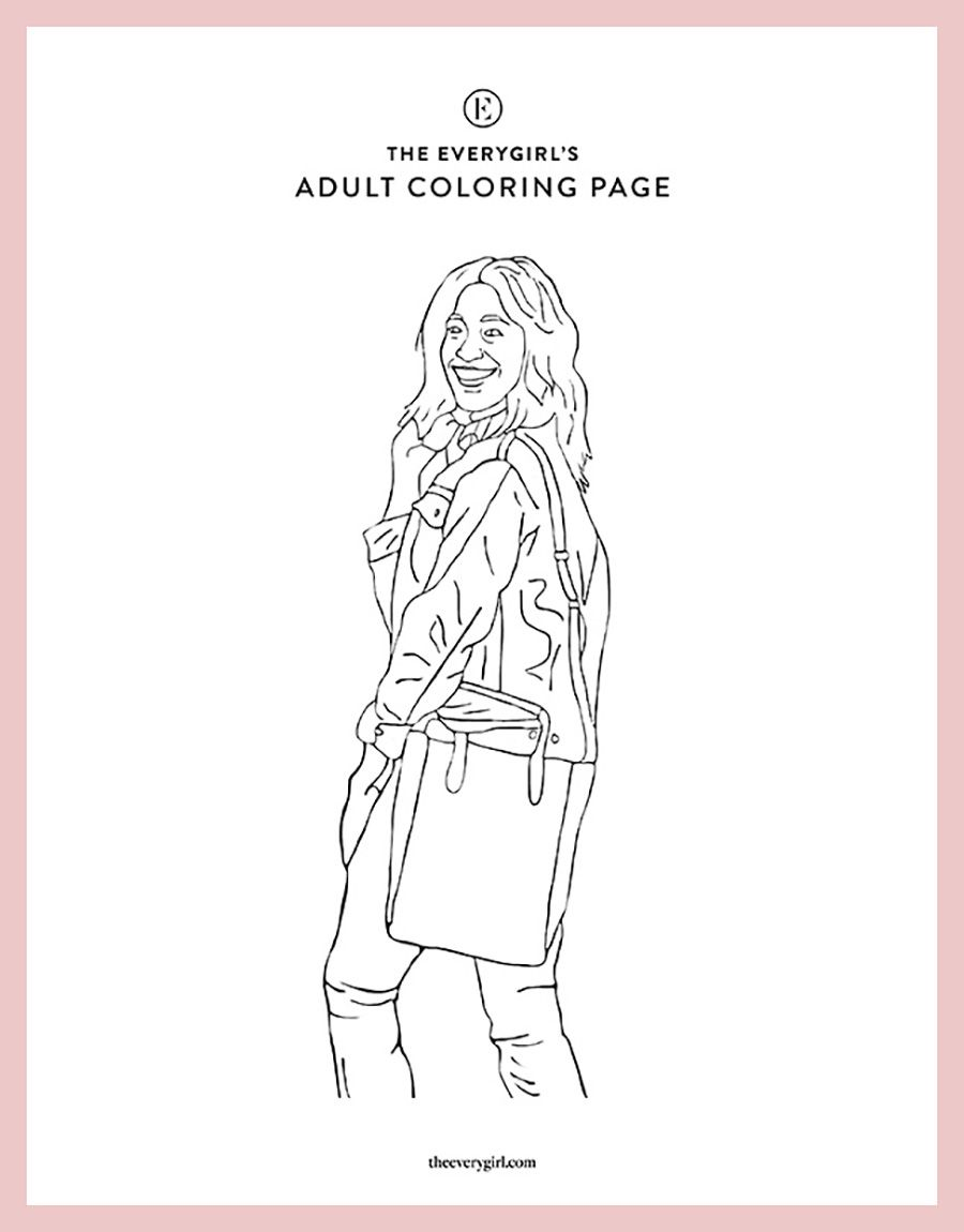 New The Everygirl S Free Printable Coloring Pages In 2020 Coloring Pages Free Printable Coloring Pages Printable Coloring Pages