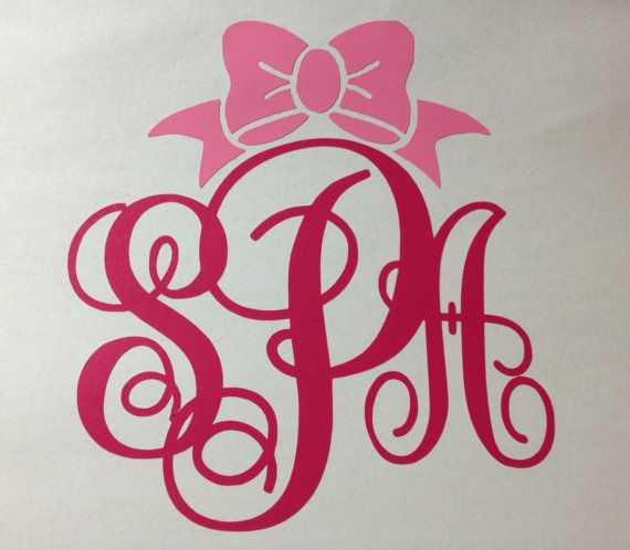 For My Car Im Getting Soon Vinyl Bow Monogram Car Decal By - Monogram decal for car