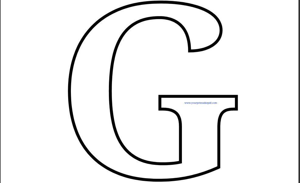 Printable Letter G Coloring Page Printable Alphabet Letters