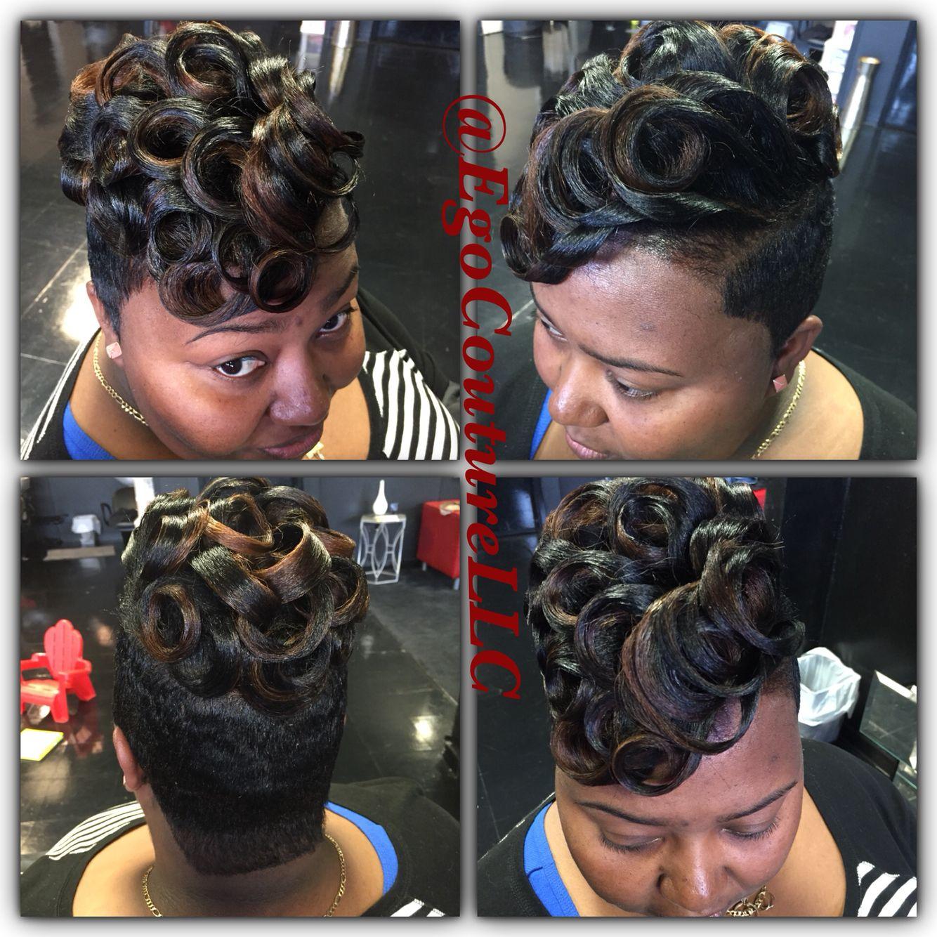 Pin Curls Medium Length Hair Styles Short Hair Color Hair Styles