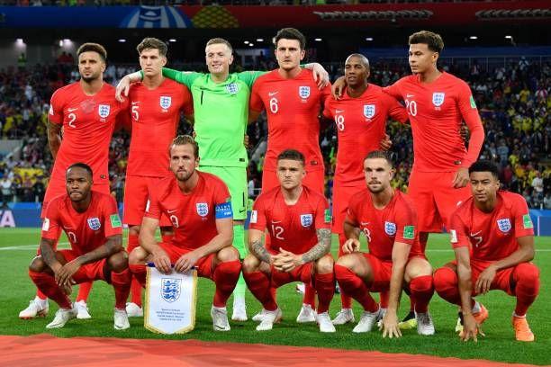England's Defender Kyle Walker England's Defender John