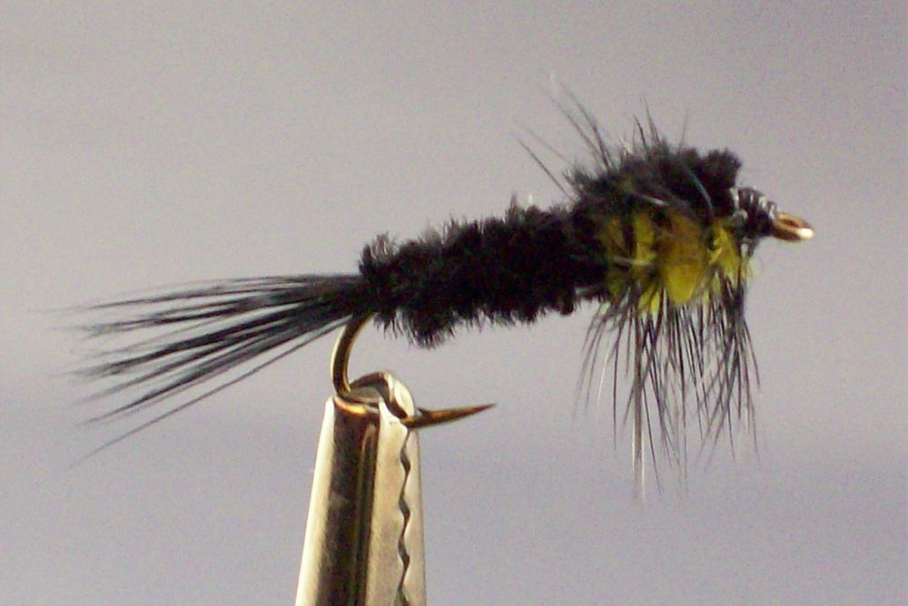 1 x Mouche peche Streamer Catwiskers Orange H8//10//12 mosca fly fishing trout