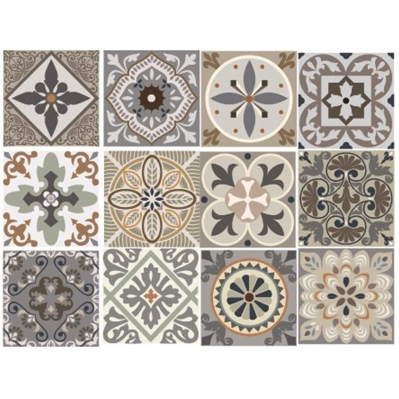 Briketo Venecia Decorative Tile Stickers Set 12 Units 6x6 Inches Peel And Stick Vinyl Tiles Backsplash Home Deco Decorative Tile Staircase Decor Vinyl Tiles