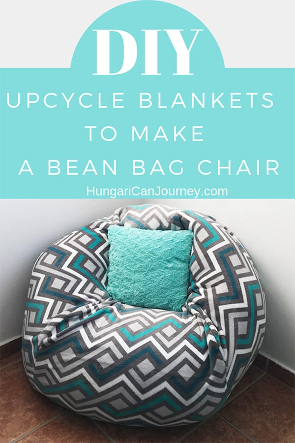 How To Make A Bean Bag Chair Out Of Old Blankets Bean Bag Chair Make A Bean Bag Chair How To Make A Bean Bag