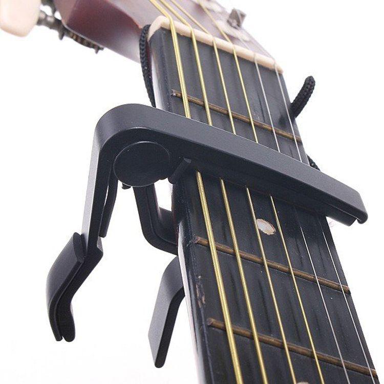 Top Quality Guitar Capo Made Of Aluminium Alloy Silver Or Black Color Guitarra Capotraste Durable Guitar Parts Guitar Capo Classic Guitar Electric Guitar Capo
