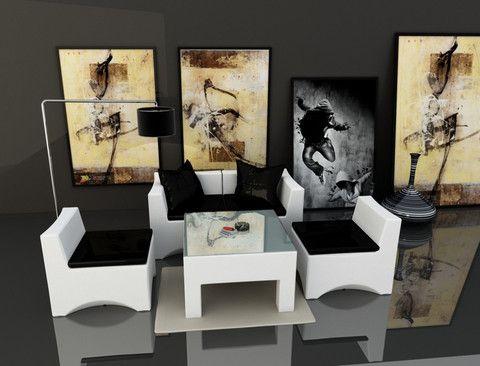 Orion u leather sofa lounge set furniture modern