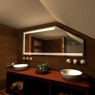 Badspiegel für Schräge Spiegel für Dachschräge Glasbilder Pinterest