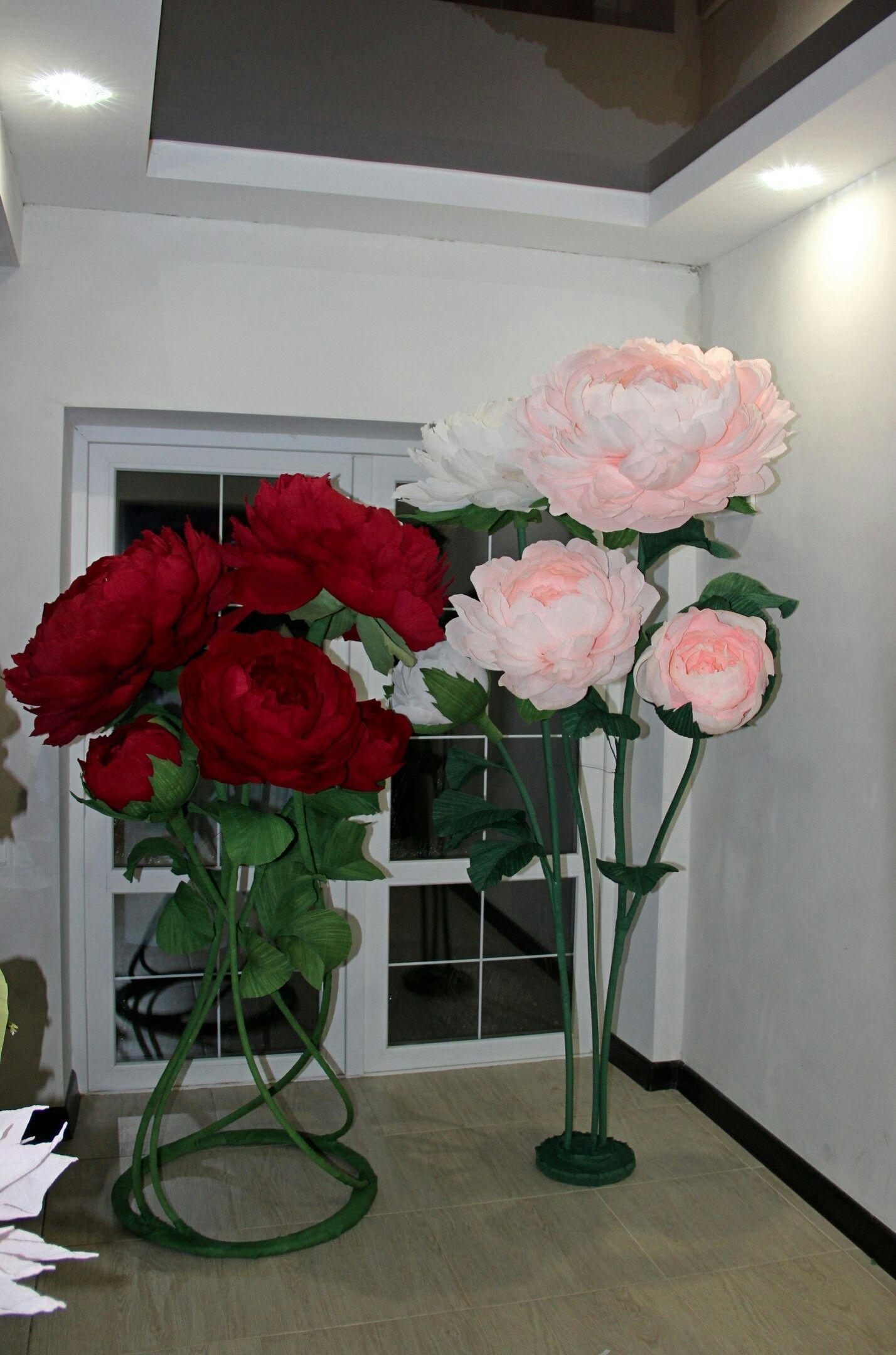 Best 12 Bolshie Cvety Na Stojke Doya Oformleniya Paper Flower