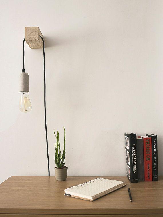 minimale gestaltete und handgefertigte lampe eine. Black Bedroom Furniture Sets. Home Design Ideas