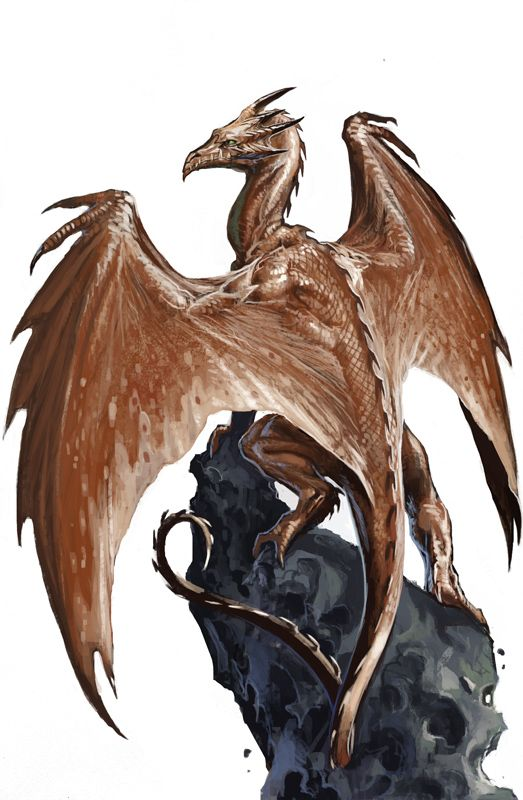 Dnd Copper Dragon: Young Copper Dragon By BenWootten.deviantart.com On