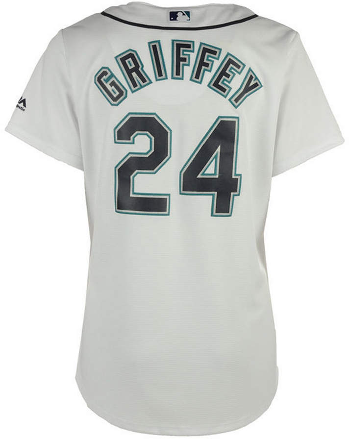 50eafc7f79 Majestic Women's Ken Griffey Jr. Seattle Mariners Cool Base Player Replica  Jersey