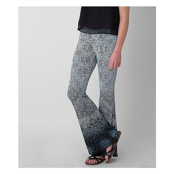 Patrons Of Peace Ombre Pant ($27) ❤ liked on Polyvore featuring pants, elastic waistband pants, mint green pants, ombre pants, mint pants and stretch waist pants