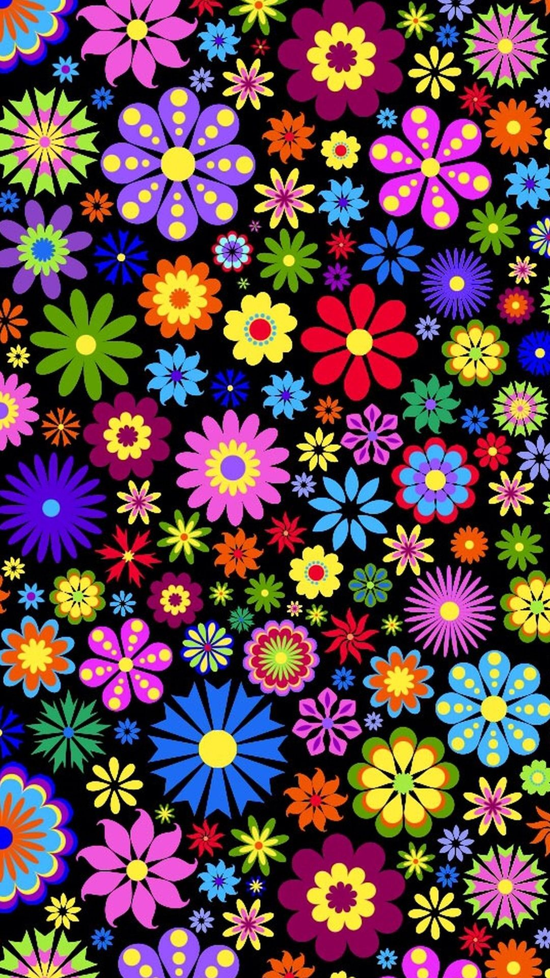 Free Colorful Flower Wallpaper Downloads: #cute #retro #flower #background #wallpaper