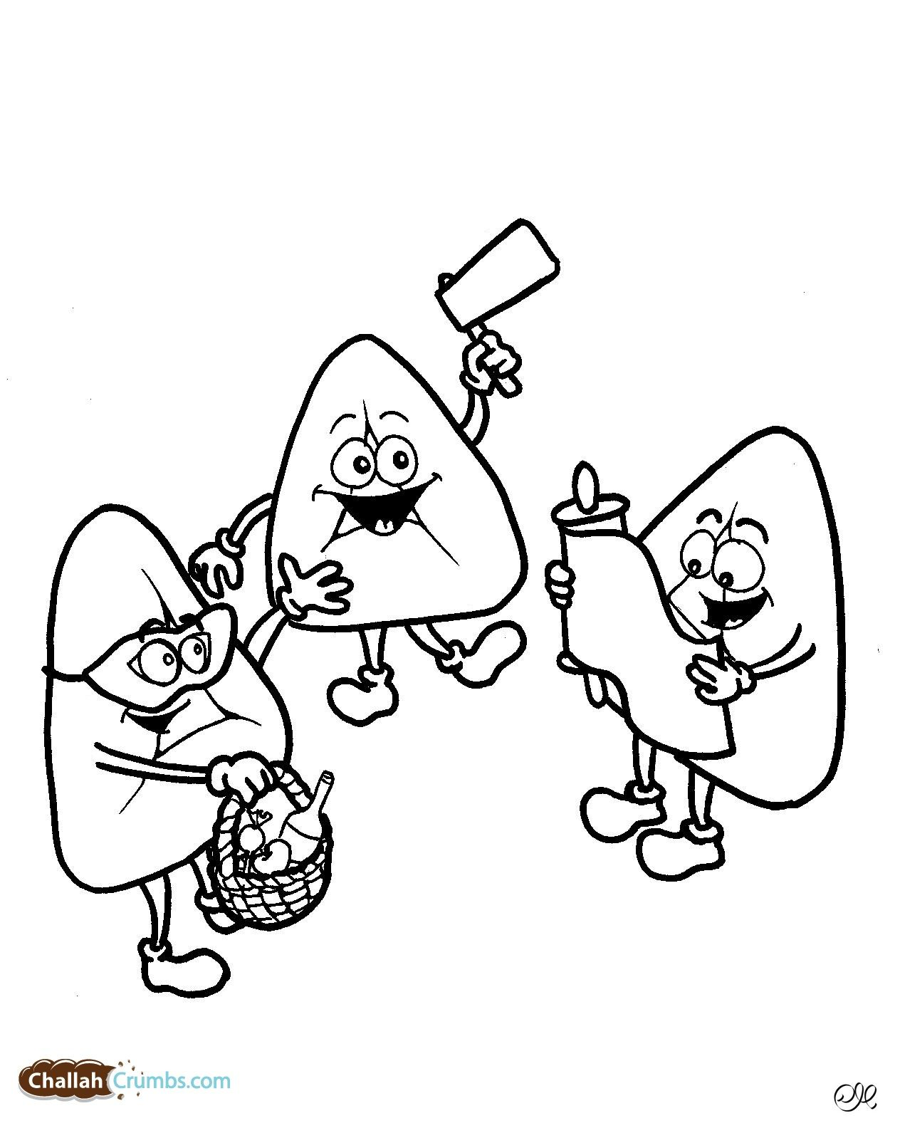purim coloring pages - Purim Coloring Pages