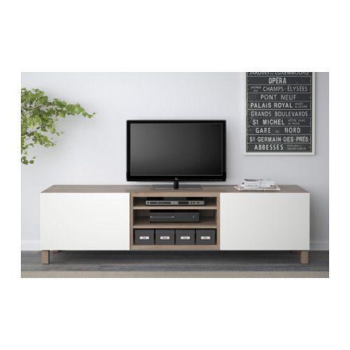 Best Tv Bench With Drawers Walnut Effect Light Gray Lappviken White Drawer Runner Push Open