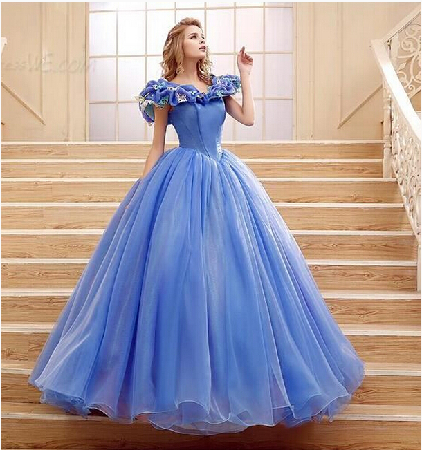 2015 New Pattern Women Formal Chiffon Ball Gown Princess Evening ...