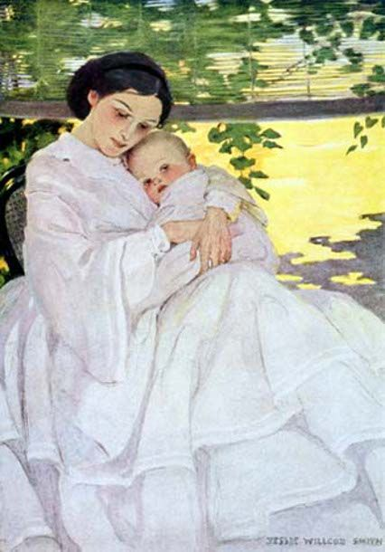 Sweet and Low, by Jessie Willcox Smith (1863 – 1935, American)