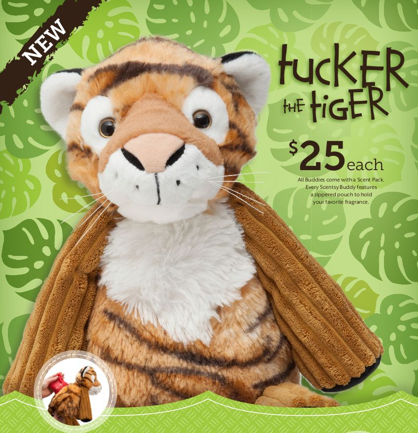 New Scentsy buddy Tucker the Tiger available Nov 10 & while supplies last. https://fun2gift.scentsy.us