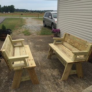 Picnic Table Bench Combo Plan Projects To Try In 2019
