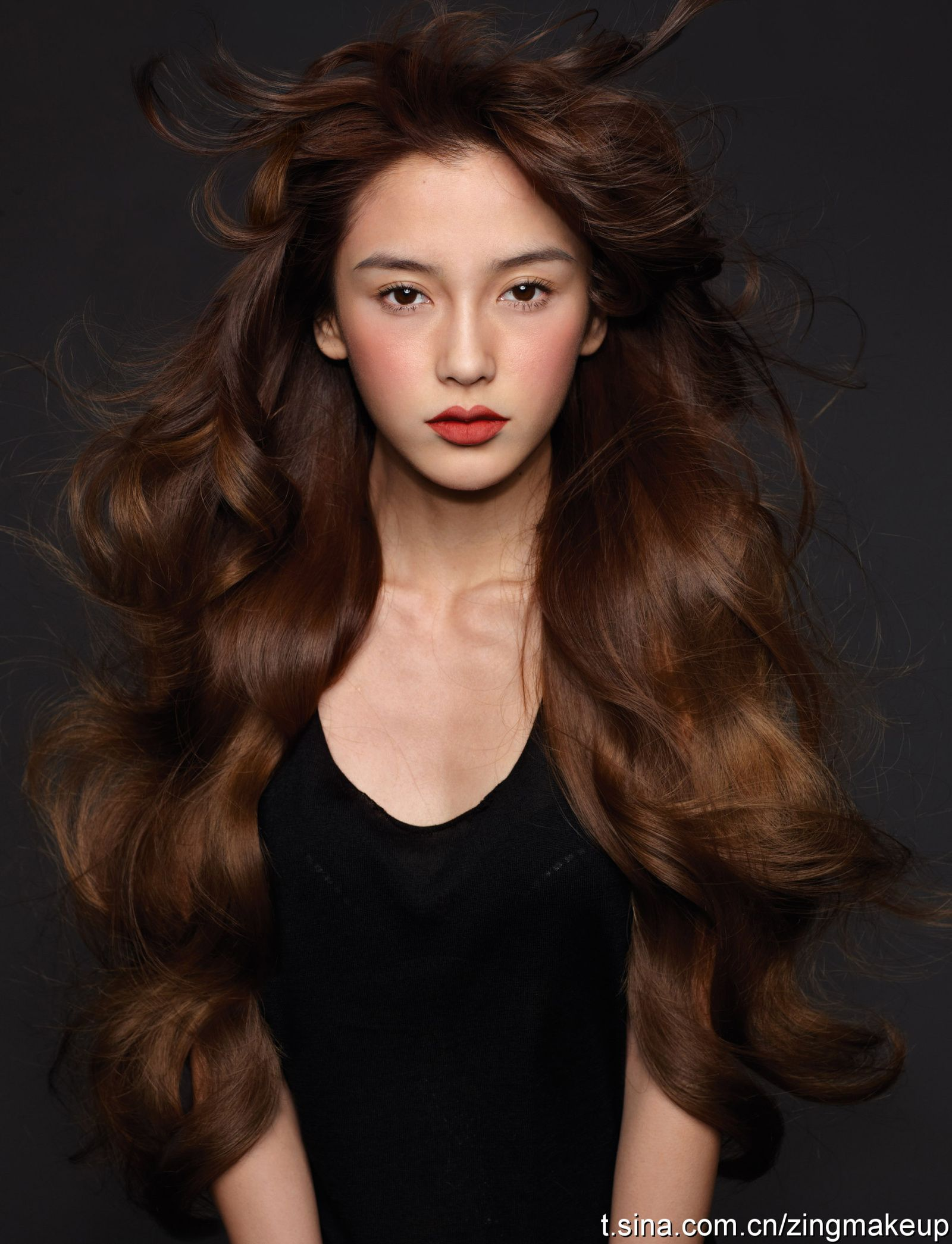 Angelababy hair colour