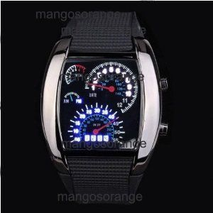 New Fashion Silicone Blue Binary DOT men/woman LED Wrist Watch 4 Colors