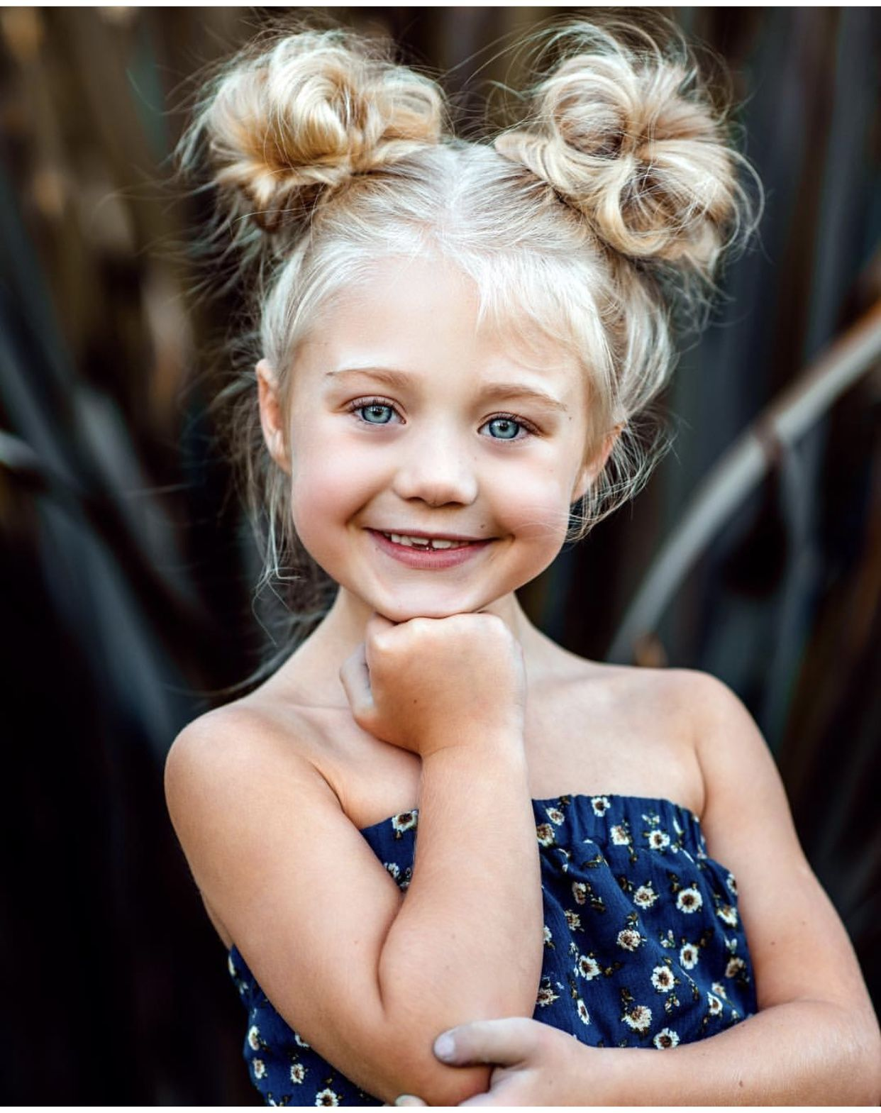 Little Girl Space Buns Hairstyle Kids Hairstyles Girls Girl Hair Dos Baby Hairstyles