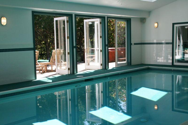 Beautiful Indoor Pool For Year Round Enjoyment Tiburon Ca In Marin County Indoor Pool Spa Pool Pool