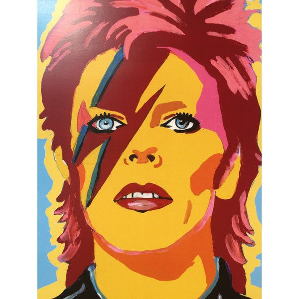 DAVID BOWIE art print ($10) ❤ liked on Polyvore featuring home ...