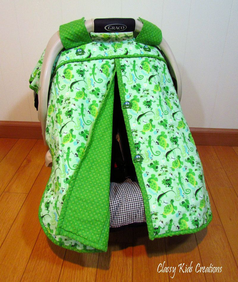 Infant Car Seat Canopy Cover Tutorial | Car seat canopy | Pinterest