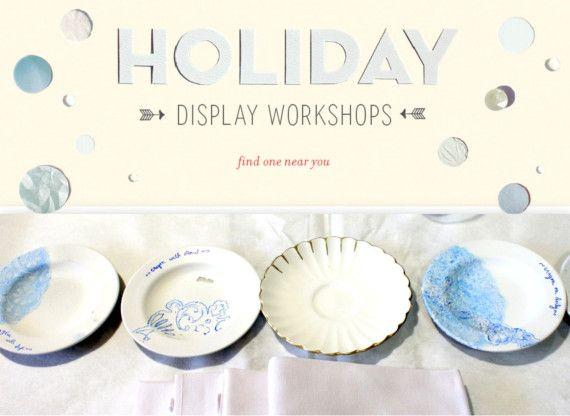 #Anthropologie Holiday Display Workshops